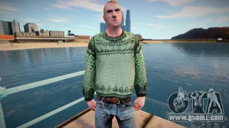 Russian man in a sweater (good skin) for GTA San Andreas
