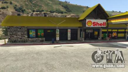 Shell Gas Station and Subway on Rest Area for GTA 5