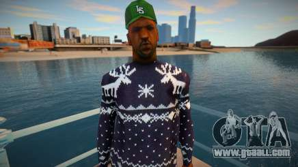 Sweet in a winter sweater for GTA San Andreas