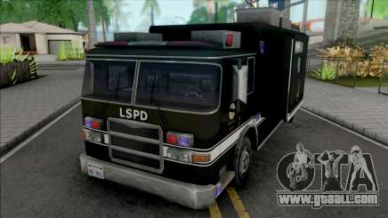 Swat Team Truck Container for GTA San Andreas