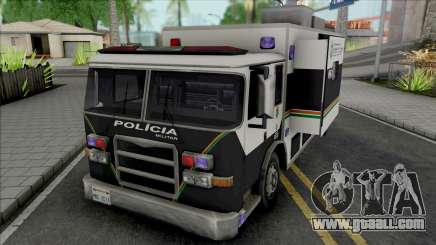 Operational Mobile Base Truck PMCE for GTA San Andreas