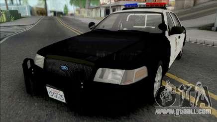 Ford Crown Victoria 2011 CVPI LAPD v2 for GTA San Andreas