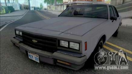 Chevrolet Impala 1986 LAPD Unmarked for GTA San Andreas