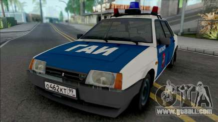 VAZ-21099 Moscow Militia of the 90s for GTA San Andreas
