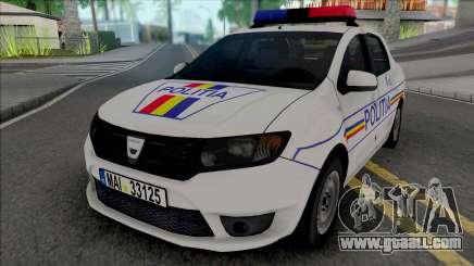 Dacia Logan 2013 Politia for GTA San Andreas
