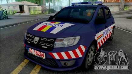 Dacia Sandero 2018 Politia for GTA San Andreas