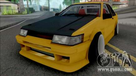 Toyota AE86 Coupe Yellow for GTA San Andreas