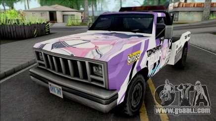 Tow Truck Tokoyami Towa Itasha for GTA San Andreas