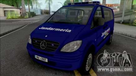 Mercedes-Benz Vito Jandarmeria Romana for GTA San Andreas