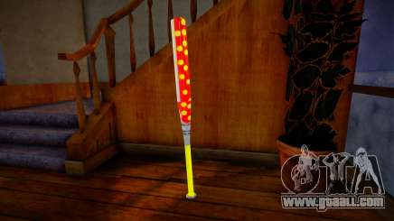 Red baseball bat for GTA San Andreas